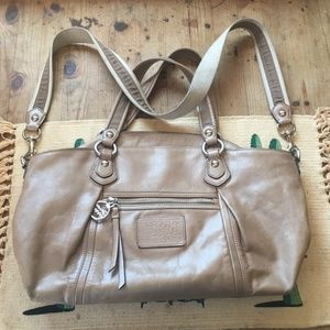 Authentic Coach Poppy Leather Shoulder Bag